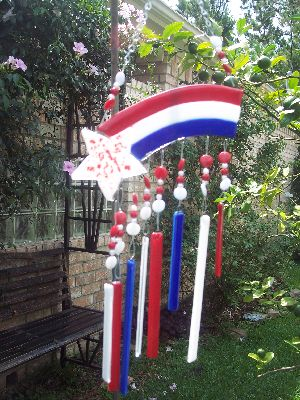 glass wind chimes. Holiday Wind Chimes