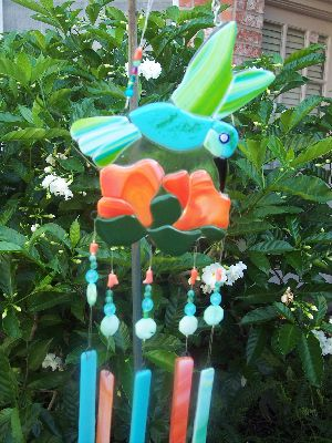 Wind Chime - Hummingbird with Flower