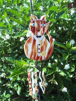 Cat about town wind chime